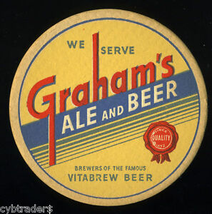 Graham-039-s-Ale-Beer-Coaster-Refrigerator-Tool-Box-Magnet