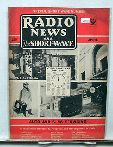 April 1934 Radio News Amp Short Wave Magazine World Short