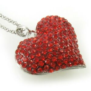 Valentine-039-s-Day-Love-Ruby-Red-Heart-Necklace-Crystal-Stone-Chain-Pendant-Lady-v1