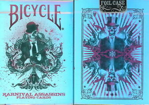 BICYCLE-KARNIVAL-ASSASSINS-LIMITED-EDITION-PLAYING-CARDS-with-FOIL-TUCK-CASE