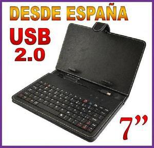 FUNDA-CON-TECLADO-USB-2-0-PARA-TABLET-PC-DE-7-034-PULGADAS-ENVIO-DESDE-ESPANA