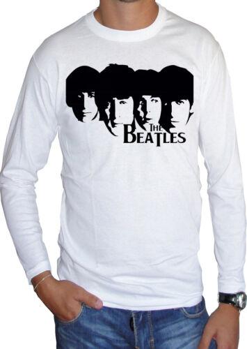 fm10 t-shirt manica lunga unisex 4 THE BEATLES Lennon McCartney Starr Georg MUSI