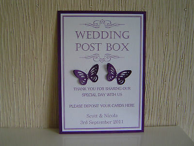 A Personalised Card for Wedding Post Box/Wishing Well