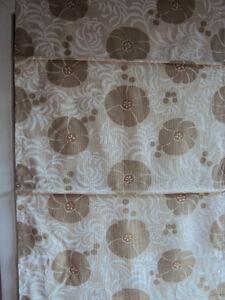 RAFFROLLO-FALTROLLO-Rollo-blickdicht-natur-Blume-Leinenoptik-45-x-225-cm