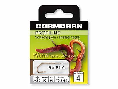 Cormoran Profiline Wurm Angel Haken 299B Brüniert Gebunden Worm/Verme/Ver