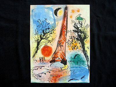 Marc Chagall Vision of Paris M.287 original vintage Lithograph inv966