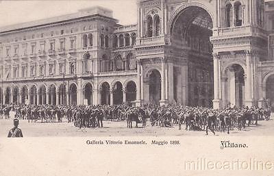 * MILANO - Moti Popolari del 1898 - Militari alla Galleria Vittorio Emanuele