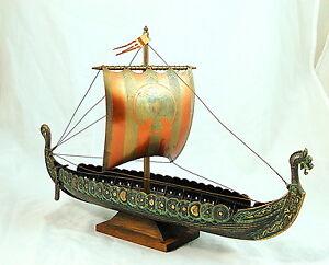 Iron-Art-VIKING-SHIP-Copenhagen-Denmark-bronzed-metal-17-034