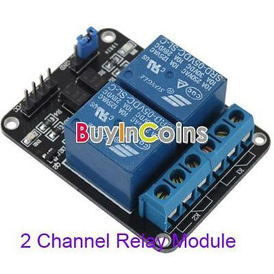 New 5V 10A 2-Channel Relay Module Shield for Arduino ARM PIC AVR DSP Electronic