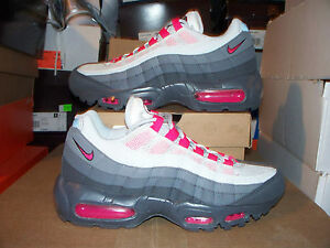 Womens-Nike-Air-Max-95-145-Cherry-Pink-COOL-GRAY-8-2012-2011-24-7-2010-95-90