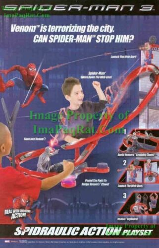 SpiderMan 3 Spidraulic Action Playset Great Print Ad!