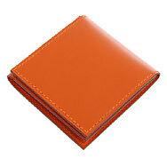 21633-auth-HERMES-Potiron-orange-Veau-Chamonix-leather-Etui-Hmmm-Condom-Case-NEW