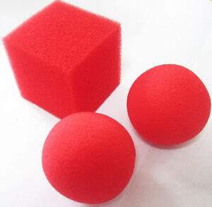Sponge-Ball-to-Square-Cube-Magic-Trick-2-Ball-1-Cube