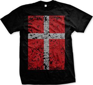 Denmark Danish Danmark Flag Football Soccer Oversized New Men's T-shirt