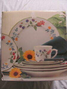 studio nova berry lane service 20 piece dish set for 4 bowls plates