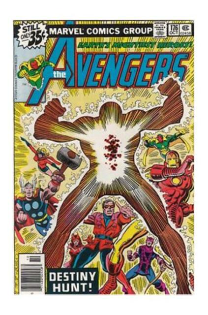 The Avengers #176 (Oct 1978, Marvel) Captain America Iron Man Thor Hawkeye