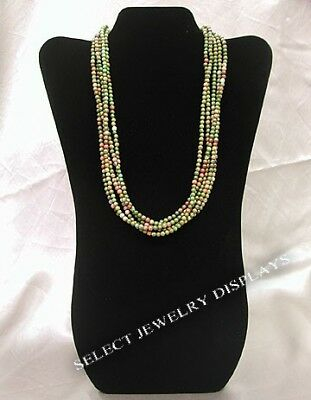 """NEW Black Velvet Necklace Jewelry Display Easel 14"""" H"""