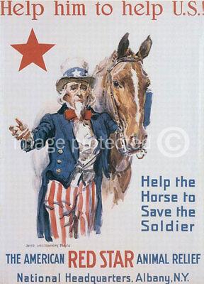 Help Him To Help US World War I Military Vintage Poster