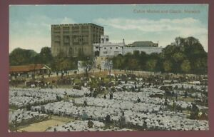 Norfolk-NORWICH-Cattle-Market-and-Castle-PPC