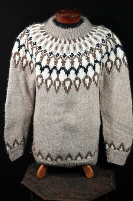 VINTAGE 1960'S HAND MADE ALPACA SKI SWEATER SZ LARGE