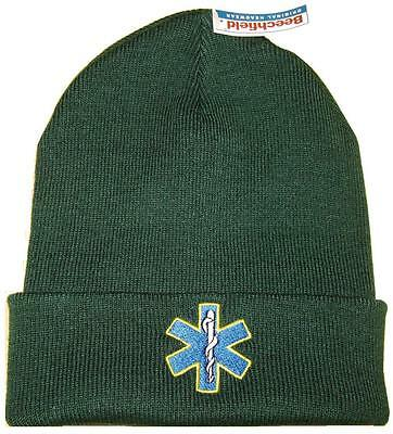 STAR OF LIFE, PARAMEDIC, AMBULANCE, NURSE, MEDIC WOOLLY HATS