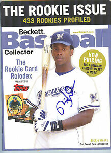 2004-DELMON-YOUNG-RICKIE-WEEKS-Dual-Signed-Rookie-Baseball-Beckett