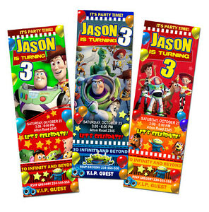 toy story birthday party invitation ticket    woody jessie, Party invitations