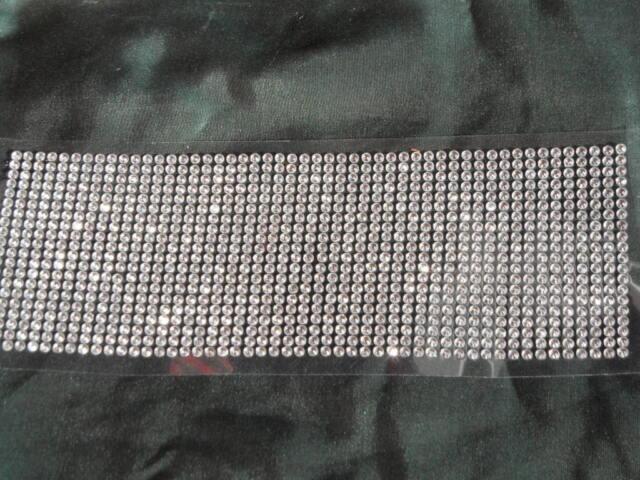 ** 1000 x Strasssteine Glitzersteine Bordüre -   selbstklebend  ** Klar  4mm