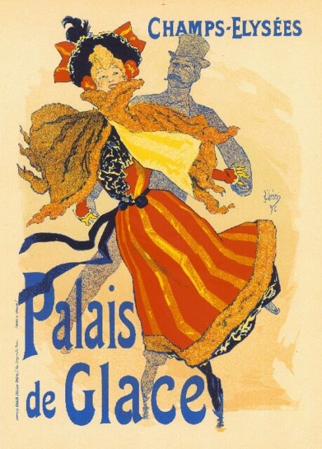 Champs-Elysees Palais Vintage French France Poster Picture Print Advertisement