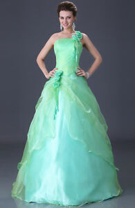 VG-Evening-Gown-Prom-Ball-Wedding-veil-Dress-Green-SIZE-6-8-10-12-14-16-Freeship