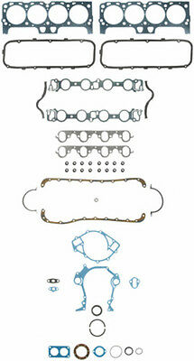 Ford 429 460 full gasket set head valve cover oil pan timing cover rear main