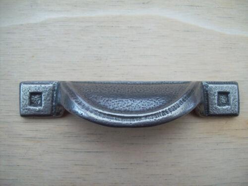 CAST IRON ANTIQUE PEWTER CABINET CUPBOARD DRAWER KITCHEN DOOR HANDLES KNOBS CUP
