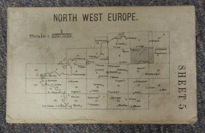 VINTAGE WW1 BRITISH ARMY MAP - NORTHWEST EUROPE SHEET 5