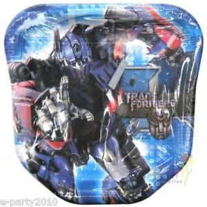 TRANSFORMERS Revenge of the Fallen LARGE SHAPED PLATES (8) ~ Party Supplies