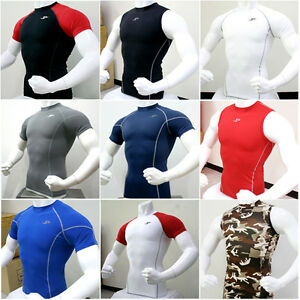Mens-Compression-Under-Base-Layer-Top-Tight-Short-Sleeve-T-Shirts-Collection-1