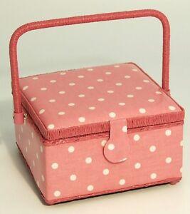 Pink-Polka-Dots-Sewing-Knitting-Basket-Box-Sewing-Kit