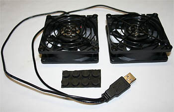 HTPC Cable box Cabinet 80mm USB Power Silent Fan 2pcs