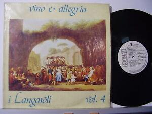 I-LANGAROLI-disco-LP-33-giri-VINO-E-ALLEGRIA-VOL-4-made-in-Italy-STAMPA-ITALIANA