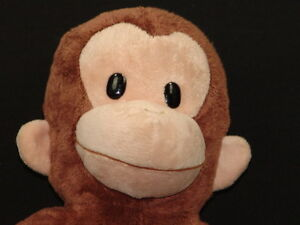 big plush curious george applause stuffed animal brown monkey soft toy ebay. Black Bedroom Furniture Sets. Home Design Ideas