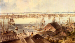 VIEW-OF-NEW-YORK-FROM-BROOKLYN-HEIGHTS-PAINTING-BY-JOHN-HILL-CANVAS-REPRO-LARGE