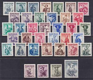 Osterreich-TRACHTENSATZ-1948-postfrisch-37-Werte