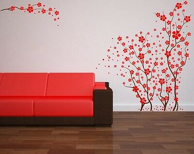 Japanese Cherry Blossoms Beautiful Large Wall Stickers 140cm height High Quality