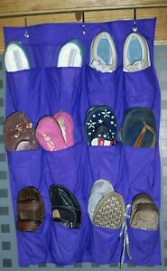 Lavender Scented Over The Door Shoe Holder Holds 12 Pairs of Shoes