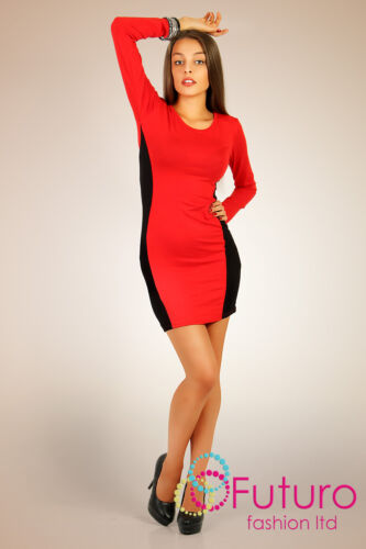 Womens Dress 2-Colors Cocktail Slimming Style Scoop Neck Tunic Size 8-12 6402