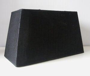 lampenschirm rechteckig schwarz leinenstruktur 40 cm breit. Black Bedroom Furniture Sets. Home Design Ideas