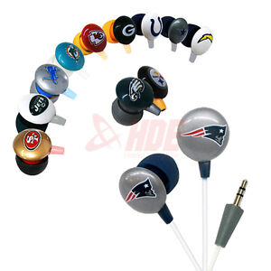 iHip-Offically-Licensed-NFL-Football-Team-Ear-Bud-Headphones-Assorted-Teams