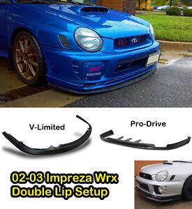 02-03-Bugeye-WRX-Pro-Drive-amp-V-Limited-double-lip-combo-setup-Polyurethane