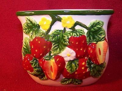"ARC Strawberry Sundae Napkin Holder 4 1/2"""