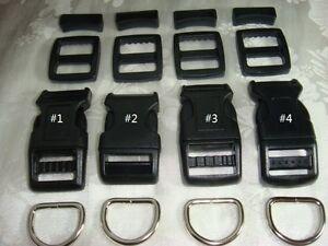25 Sets, 3/4'' (20mm) Dog Collar Hardware Kits- 4 Styles choices