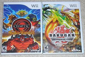 Nintendo-Wii-Lot-BAKUGAN-Defenders-of-the-Core-New-Chaotic-Shadow-Warriors